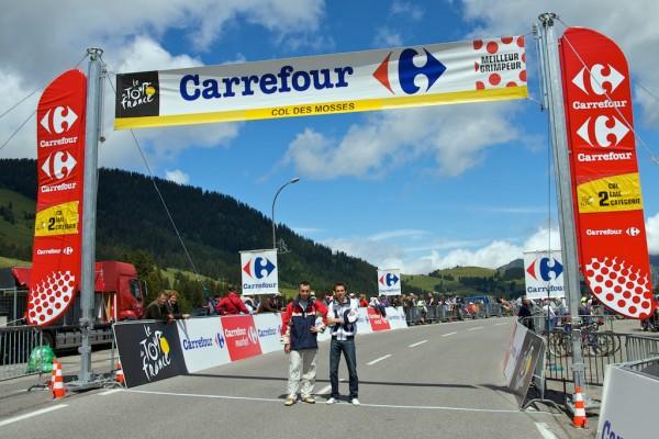 Tim en Laurens op de Col des Mosses, Tour de France 2009 (foto: © Laurens Alblas)