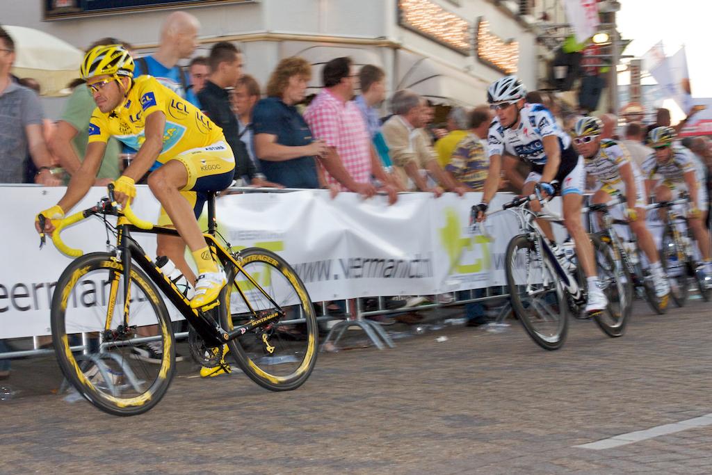 Contador tijdens de Draai van de Kaai vorig jaar (foto: © Laurens Alblas/Cyclingstory.nl)