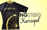 Cycling Story Koersspel logo met wielershirt