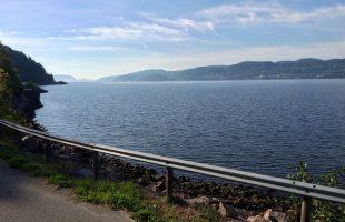 Uitzicht over het Drammensfjord bij Hyggen