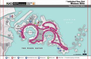 Parcours WK wielrennen Qatar 2016 tijdrit vrouwen