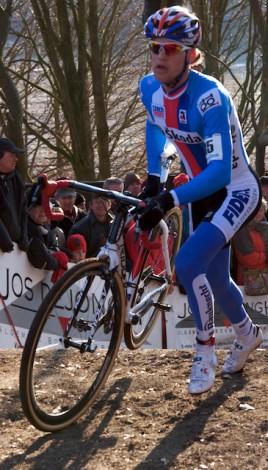 De enige die nog enigszins in de buurt kwam was de Tsjech Zdenek Stybar. (Foto © Laurens Alblas)