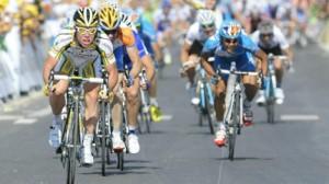 Cavendish klopt de concurrentie op snelheid (foto: © Belga)