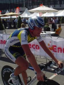 Bobbie Traksel na de finish (foto: © TvH)