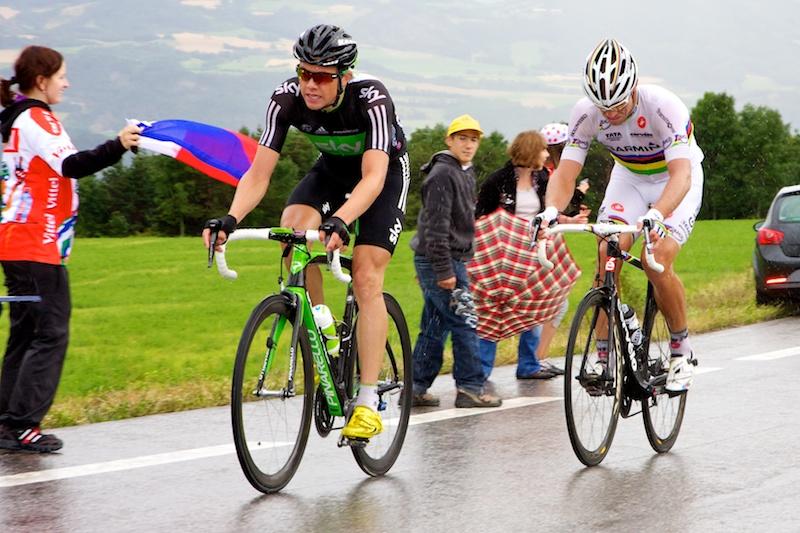De enige twee Noren in koers besloten samen de achtervolging op Hesjedal in te zetten. (© 2011 Laurens Alblas / Cyclingstory.nl)