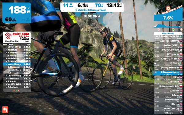 Edvald Boasson Hagen op Zwift (© Laurens Alblas / cyclingstory.nl)