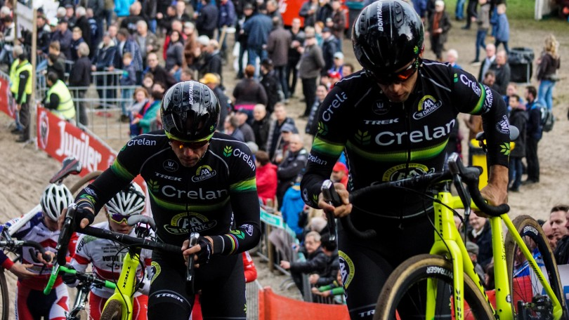 Sven Nys en ploegmaat Sven Vanthourenhout tijdens de verkenning. © Vincent Kwanten