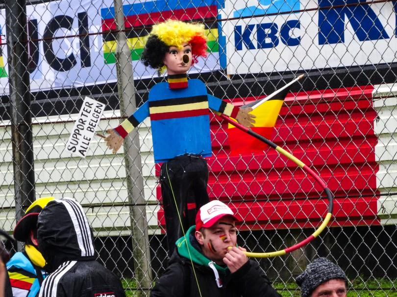 Voor deze supporter is de tweede dag van het WK-weekend goed begonnen. ⒸVincent Kwanten