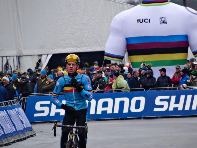 Zou Tom Meeusen stiekem op de wereldtitel gehoopt hebben? De Belg werd pas achtste. ⒸVincent Kwanten
