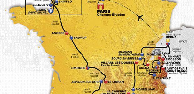 Tour de France 2016 – Etappeschema en voorbeschouwingen