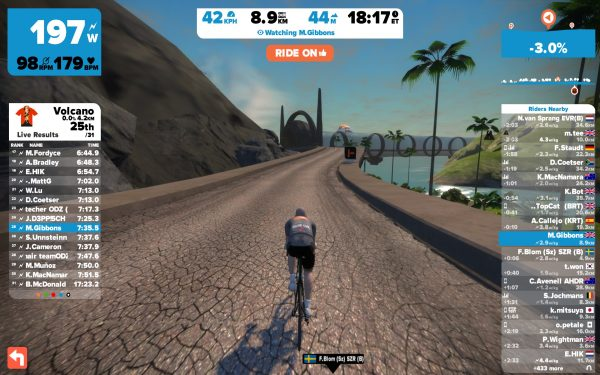 Buiten de vulkaan en de nieuwe tunnel (© cyclingstory.nl)