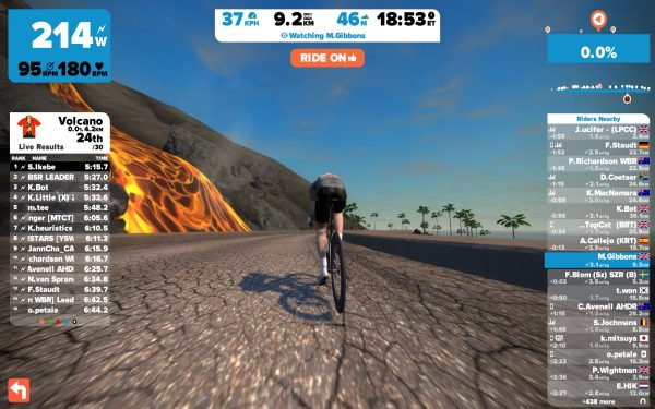 Lavastromen buiten de vulkaan (© cyclingstory.nl)