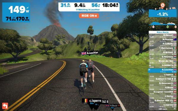 De vulkaan is goed te zien in het landschap (© cyclingstory.nl)