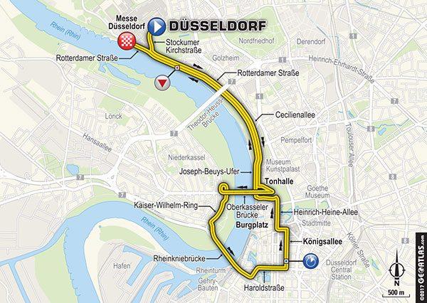 Tour de France 2017 - Route tijdrit Düsseldorf